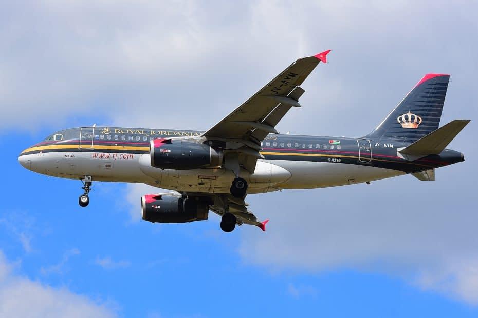 precio comida royal jordanian airlines