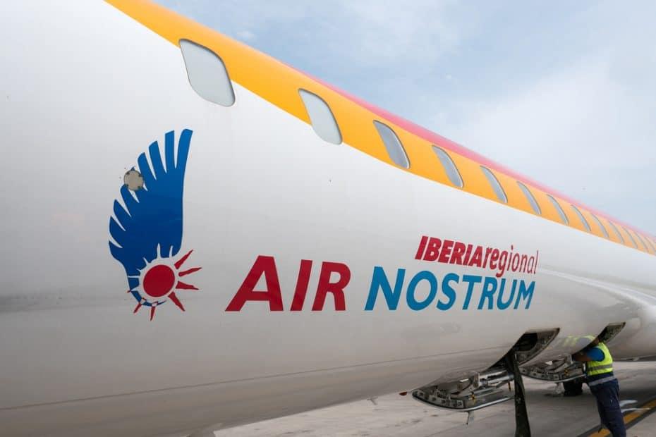 Precio de la comida de Air Nostrum