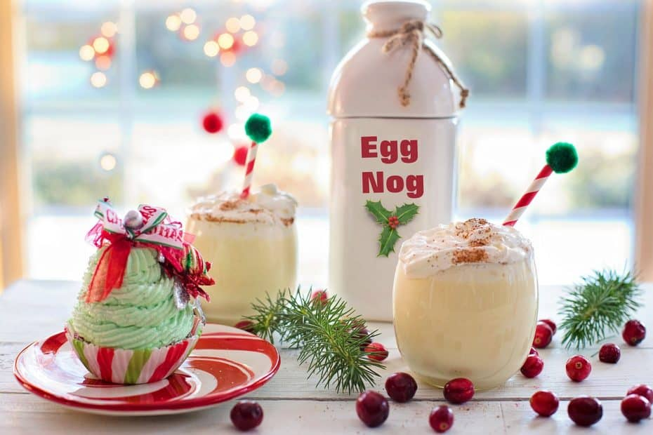 bebidas y cocteles navideños