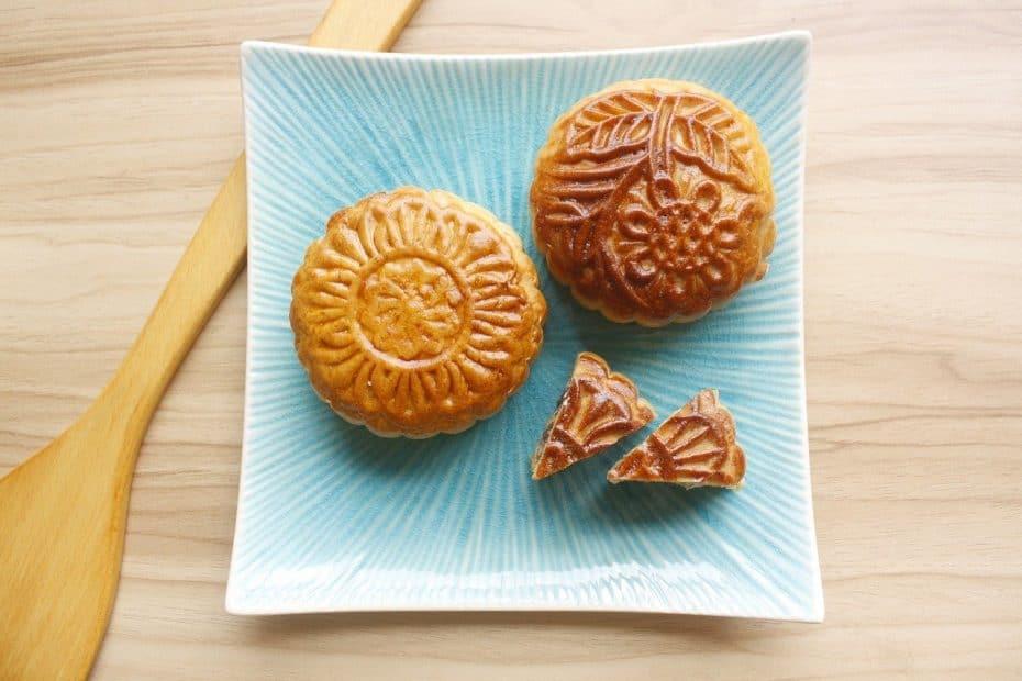 Postres típicos de China pan de luna