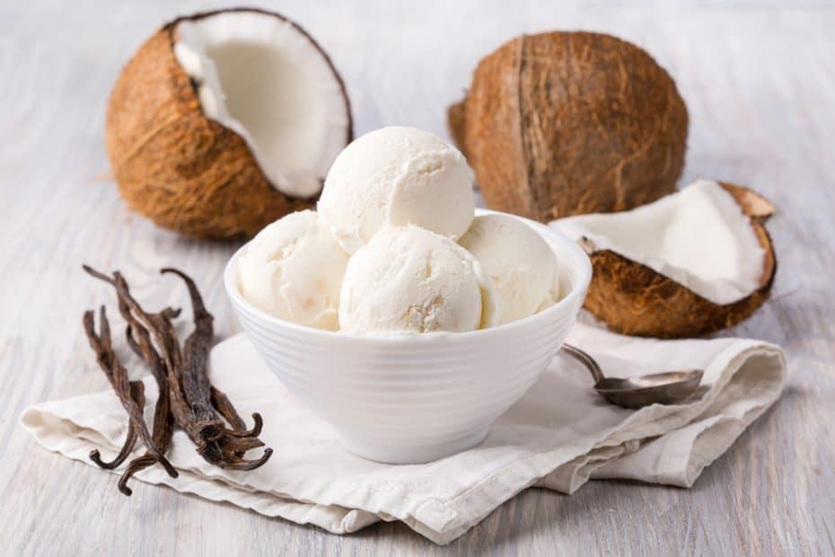 Receta de helado de coco