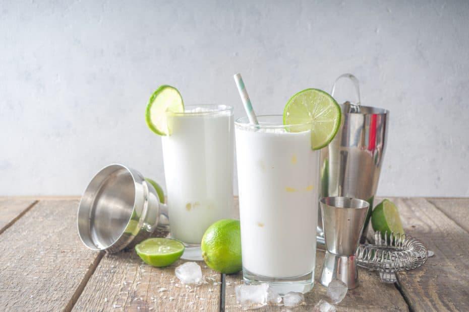 Receta de limonada de coco