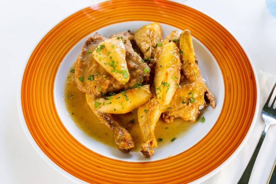Receta de sajta de pollo