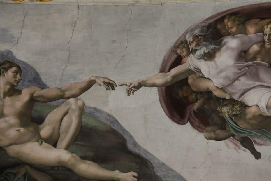 Significado de La creación de Adán de Miguel Ángel