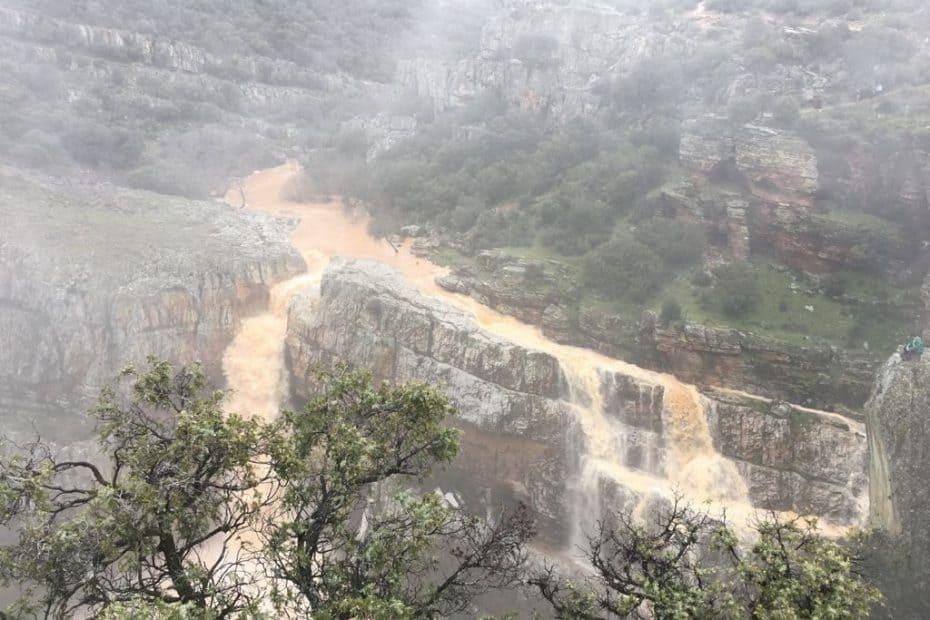 ruta en moto a la cascada de la cimbarra